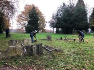 Photo 2 Tidying The Cemetery